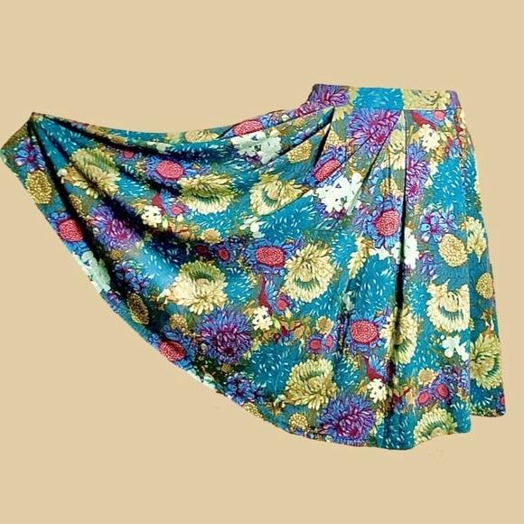 2/$20 Floral Lularoe Midi Skirt